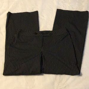 Ann Taylor Loft Black with white stripe pants, 10